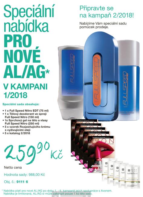 Speciální nabídka pro nové AL/AG v kampani 1/2018