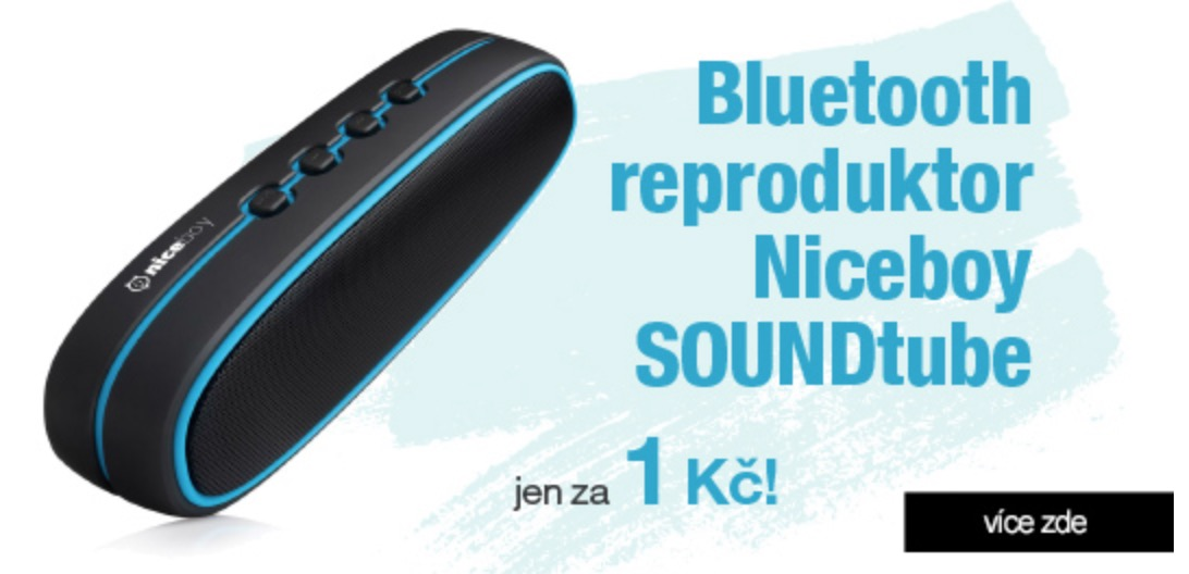 Získejte Bluetooth reproduktor za pouhou 1 Kč