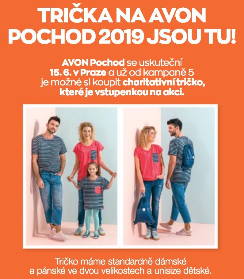 Trička na AVON pochod 2019