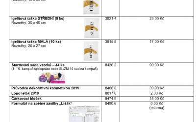 Prodejní pomůcky K16/2019