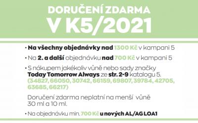 Doručení zdarma v K5/2021
