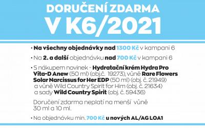Doručení zdarma v K6/2021