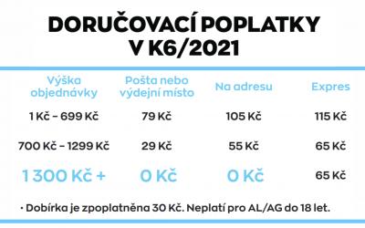 Doručovací poplatky v K6/2021