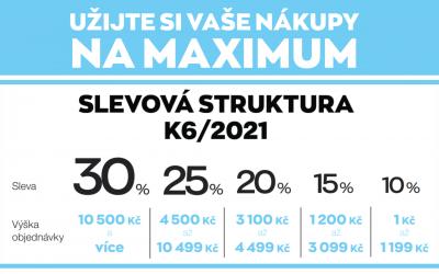Slevová struktura v K6/2021